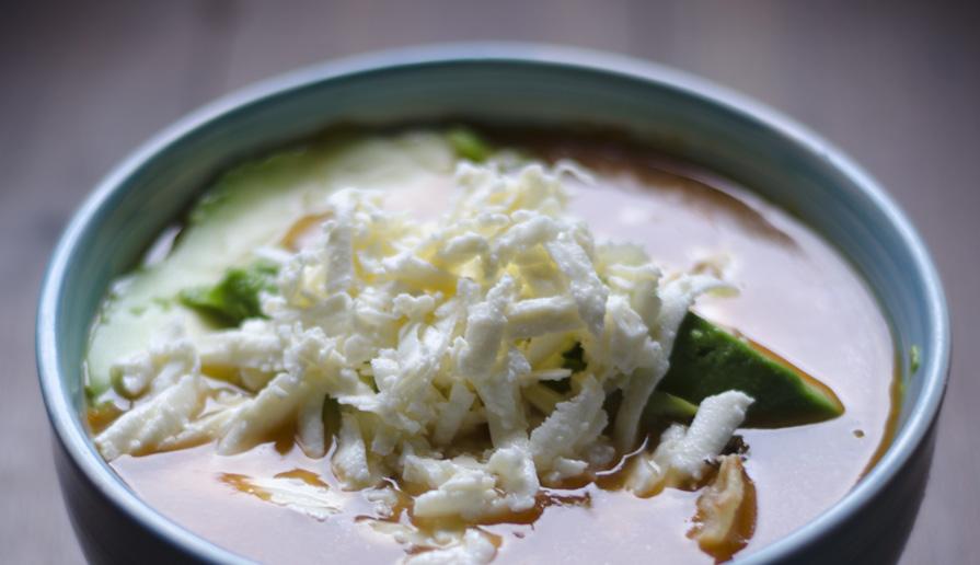 Receta de sopa Azteca